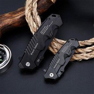 Image 4 - מתקפל סכין טקטי הישרדות סכיני ציד קמפינג להב edc רב גבוהה קשיות צבאי הישרדות סכין כיס