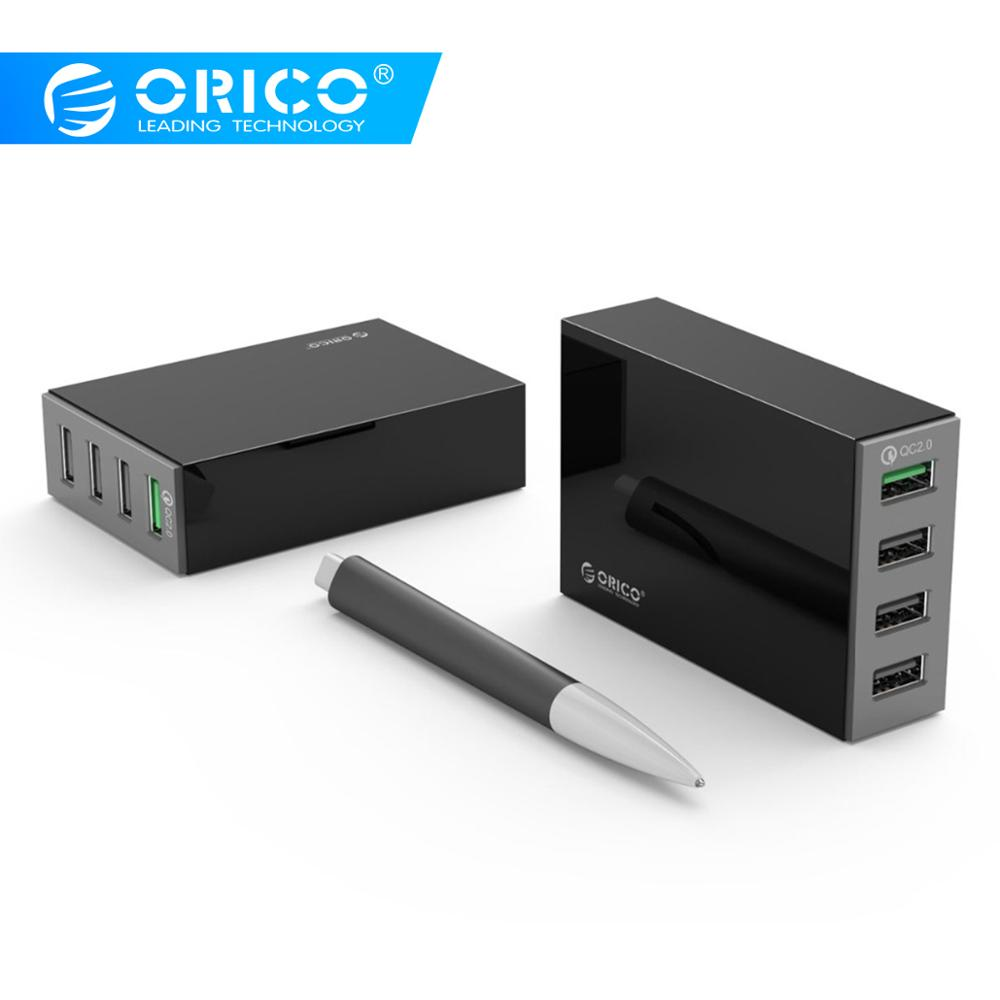 ORICO 4 Ports QC2.0 Quick Charge Desktop USB Charger 5V 34W Max Fast Charging Charger for Mobile Phone iphone x samsung s9ORICO 4 Ports QC2.0 Quick Charge Desktop USB Charger 5V 34W Max Fast Charging Charger for Mobile Phone iphone x samsung s9