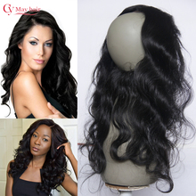 Brazilian Lace Frontal Closure 360 Lace Virgin Hair Body Wave Pre Plucked 360 Lace Band Frontals with Baby Hair Natural Hairline