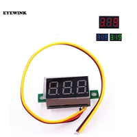 Mini medidor de voltaje de Panel de visualización LED roja, voltímetro Digital de 3 cables, CC 0-0,36 v, 100 de descuento, 39% pulgadas