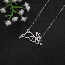 My Shape Lovely Jewelry Rabbit Penguin Snake Lion Multiple Animal pendant Chokers Necklace For Women Girls Gift(China)