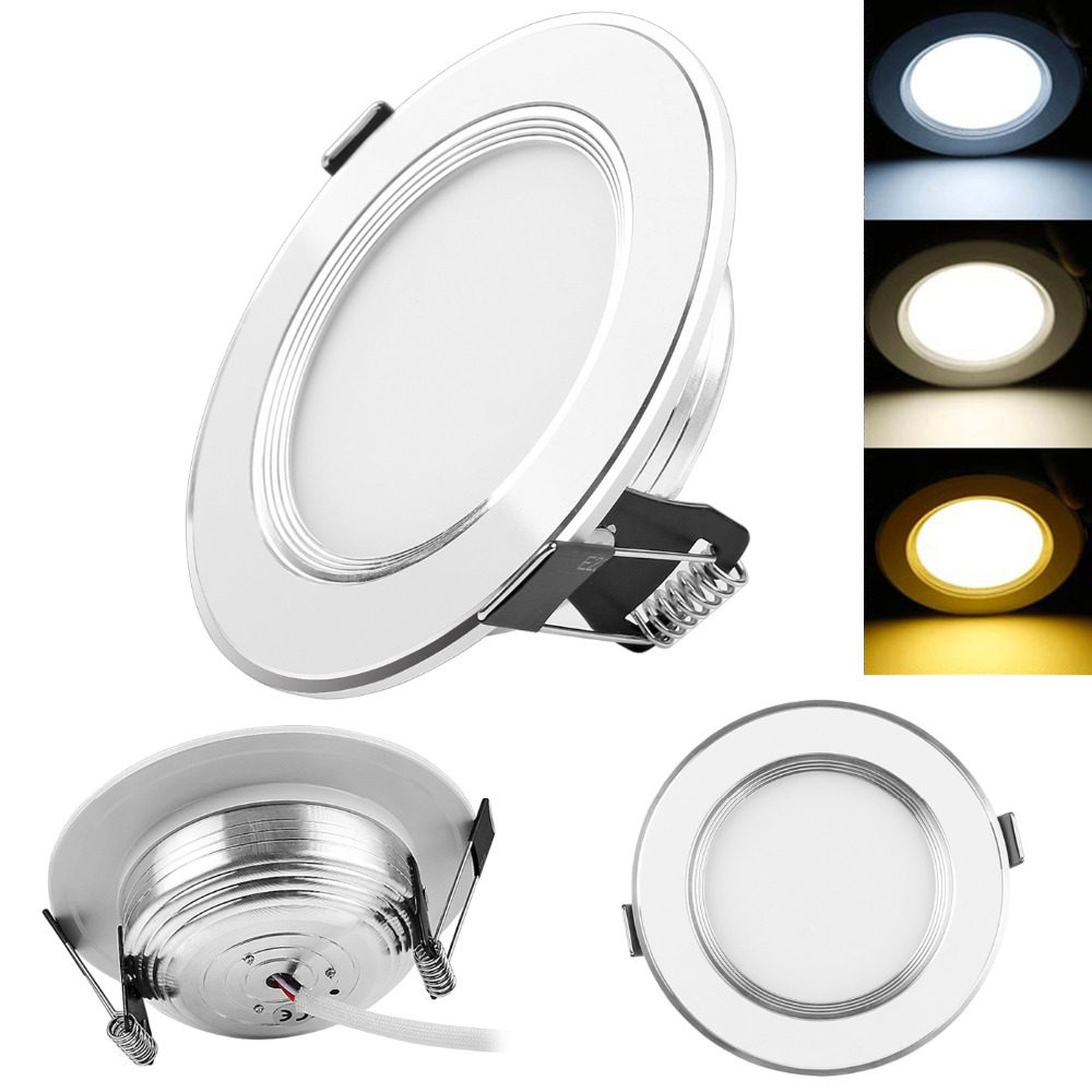 Dimmable 3w 5w 7 w 9w 3 color led panel down light recessed ceiling dimmable 3w 5w 7 w 9w 3 color led panel down light recessed ceiling light spotlight ac 100 245v led light for home lamps in led panel lights from lights aloadofball Images