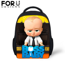 FORUDESIGS Cartoon Boss Baby Small School Bags For Boys Girls Cute 12 inch Backpack Children Kids Kindergarten Schoolbag 2019