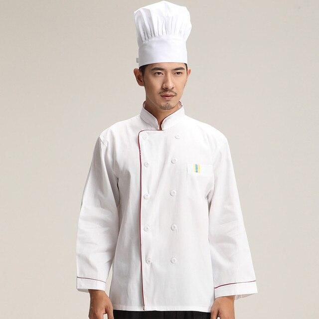 Modische Unisex Koch Uniform, atmungsaktive Stoffe, Chef Jacken Koch ...