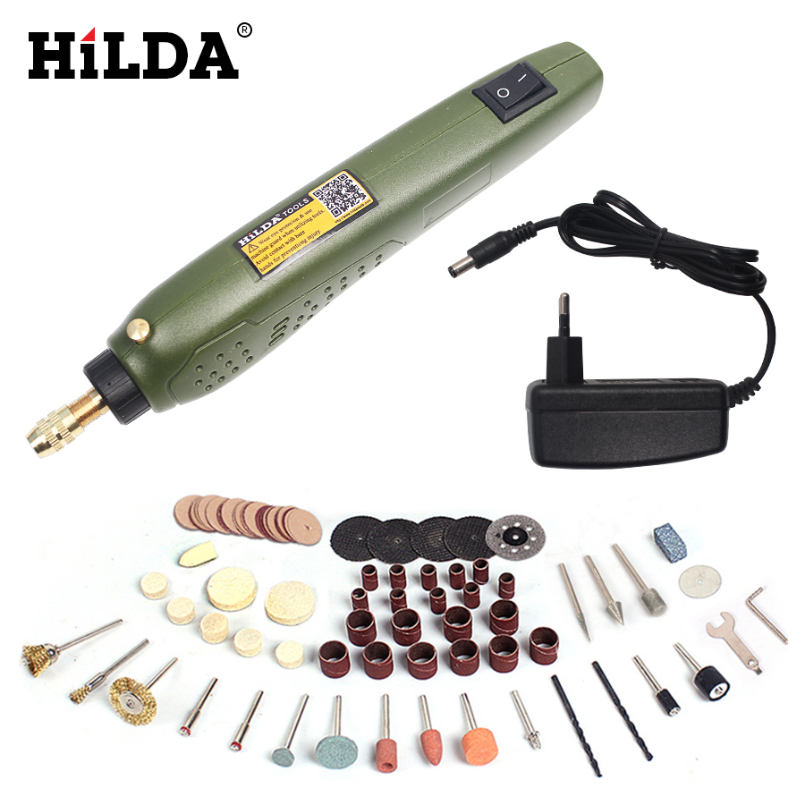 HILDA  FOR Dremel  Mini Electric Drill + Grinding Accessories Set Multifunction Engraving Machine Electric Tool kit  цены
