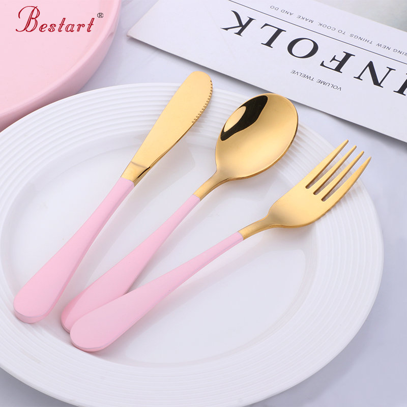 Kids 2Sets Lovely S poon Fork Stainless Steel Cutlery <font><b>Kitchen</b></font> <font><b>Tools</b></font> Crockery for Children Bear Tableware Child <font><b>Inox</b></font> Cutlery Sets image