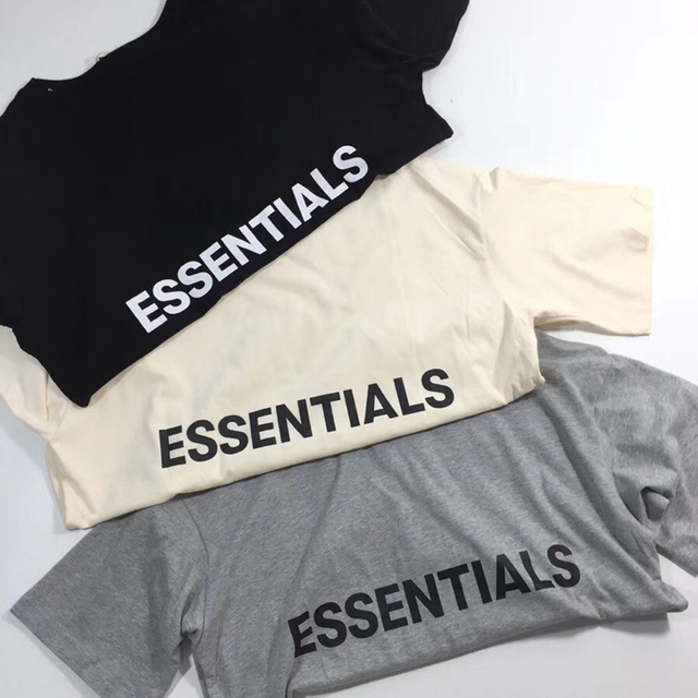 f63581c71237 2018ss Fear Of God Summer Style Fog 1 1 ESSENTIALS Boxy Women Men T shirts  tees Hiphop T shirt