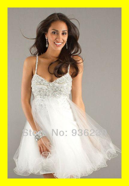 Boscovs Homecoming Dresses Party Girls Black Prom Sexy Online White  Built-In Bra Spaghetti Strap Sleeveless Beadin 2015 Discount ab3b4c4e3214