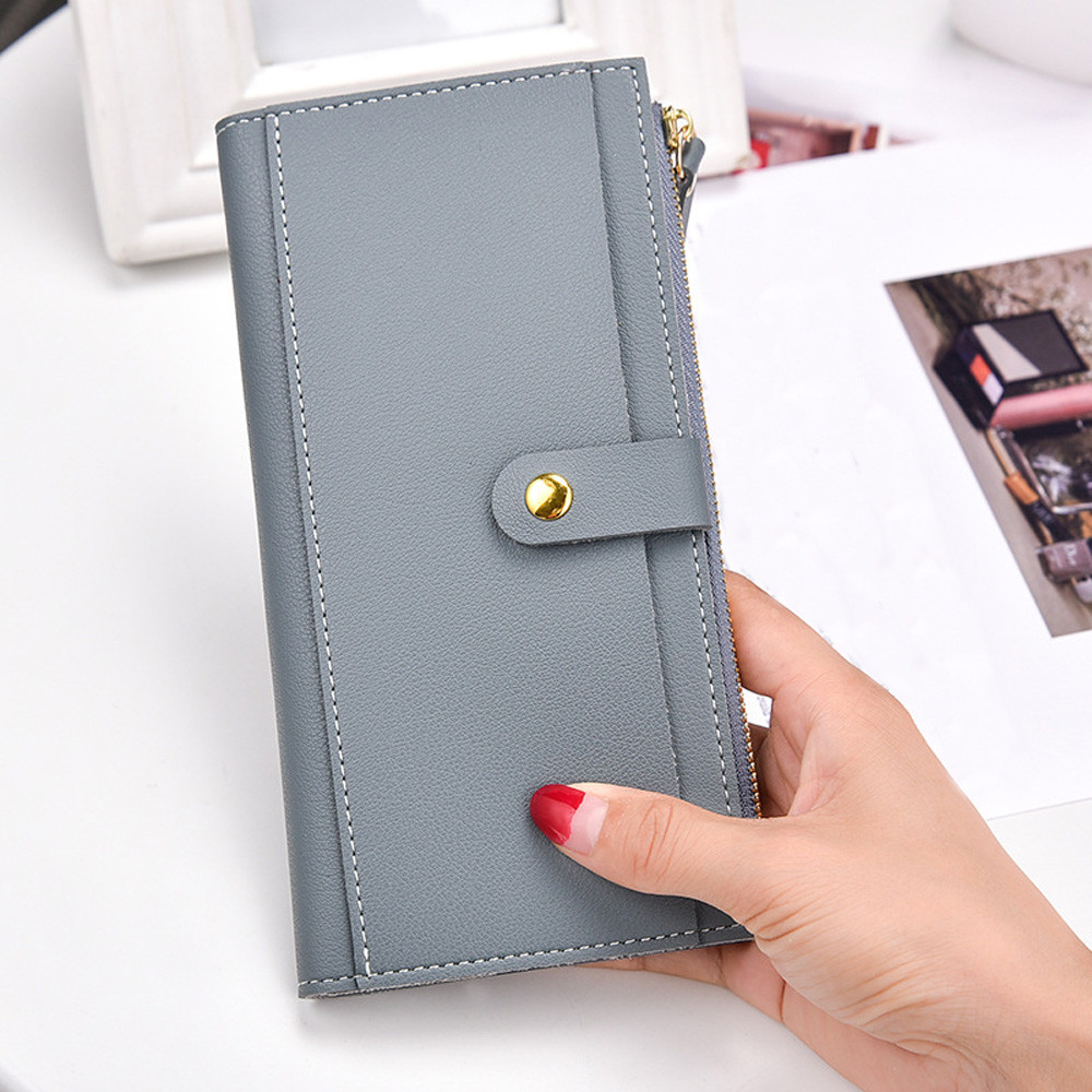 womens wallets and purses Women Fashion Leather Wallet Zipper Clutch Purse Lady Long Handbag Bag #g6