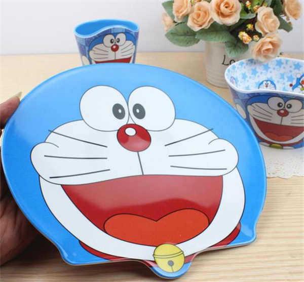 Material de resina de dibujos animados cuencos platos placas juegos de cubiertos moda niños creativos de.jpg