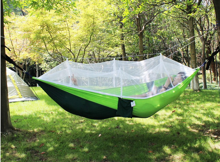 Tent tree tent with mosquito nets. Camping Hammock, Ultralight & Quality Comfort for Camping, Hiking,, Outdoors and Backpacking