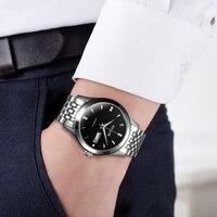 Hot Sale OYALIE Tourbillon Watches Luxury Luminous Automatic Mechanical Stainless Steel Band Wrist Watch Men Best Christmas Gift