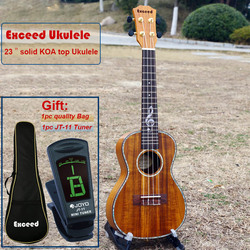 23 pouce Concert Ukulélé avec Son Incroyable Artisanat solide KOA mini Hawaii instruments de Musique à cordes Acoustique guitare ukulélé