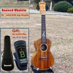 Ukulélé de Concert de 23 pouces avec un son incroyable artisanat KOA solide mini Hawaii instruments de musique à cordes guitare acoustique ukelele