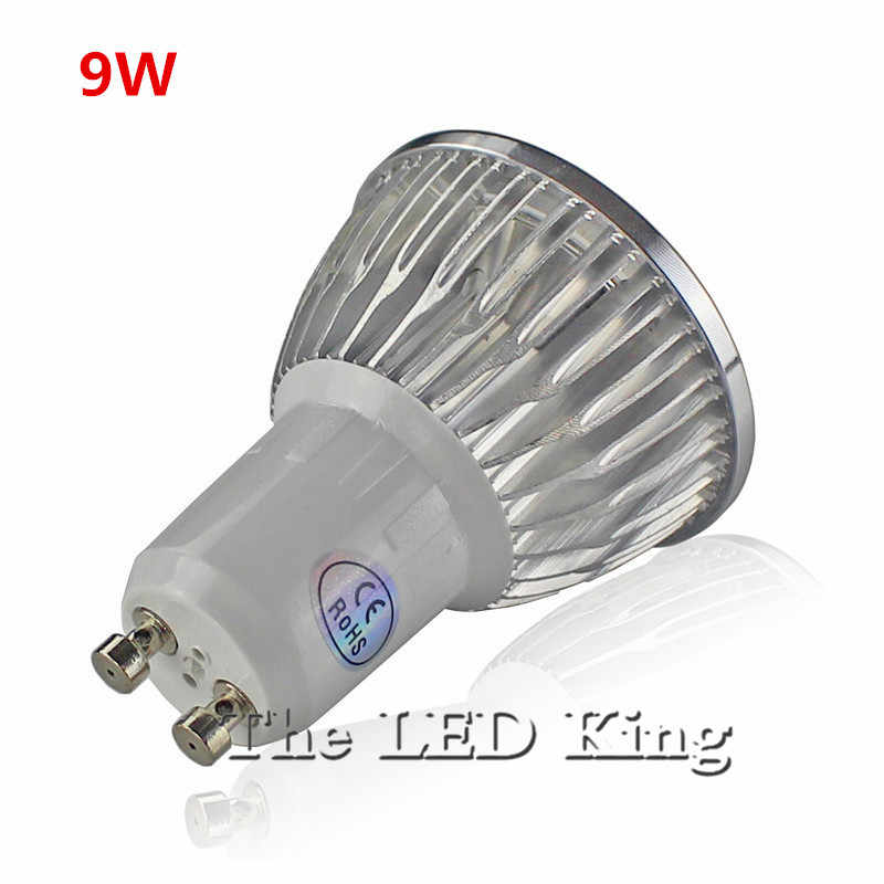 LED très brillante lampe LED Spot 9 W 12 W 15 W rouge bleu vert Bombillas GU10 GU5.3 MR16 Spot lumière Lampada LED ampoule 220 V 12 V