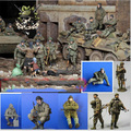 Free Shipping 1/35 Scale Resin Figure Modern Russian soldiers 7 figures not include armored vehicles