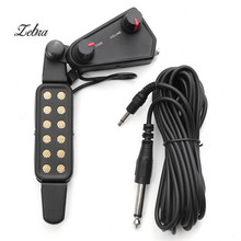 Zebra 12 hole Magnetic Sound Hole 38″/39″/40″/41″ Acoustic Guitar Pickup Transducer with Volume Tone Tuner Audio Cable