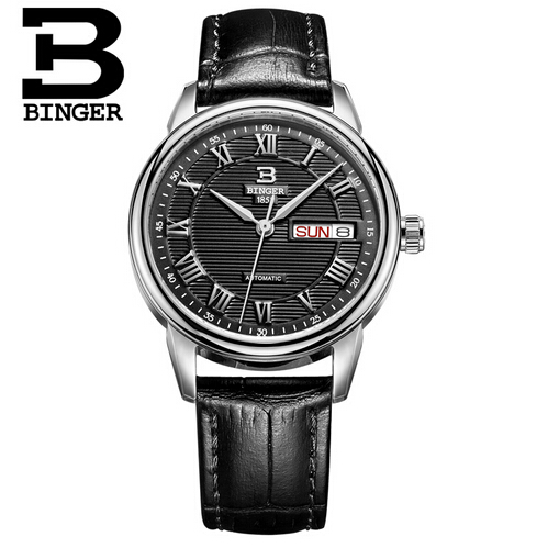 Luxury Brand Binger Casual Watch Quartz Hour Date Clock Women Sport Watches Woman Leather Military Wrist Watch Relogio Masculino splendid brand new boys girls students time clock electronic digital lcd wrist sport watch