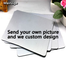 Mairuige Send Your Own Picture Rectangular And Round Mouse Pad DIY MousePad Customize Your Own Mouse Pad Send Your Image As(China)