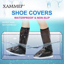 Waterproof Shoe Covers Reusable Overshoes For Women Boots Men Flats Shoes Rain Cover for Thicken Shoes Accessories Puls Big Size