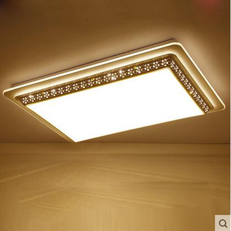 Living room lights rectangles atmosphere minimalist modern LED bedroom lighting ceiling lamp eye care warm study square lamps the new bauhinia living room lights round led ceiling lamps warm bedroom lamp lighting lamp simple modern ceiling lights za
