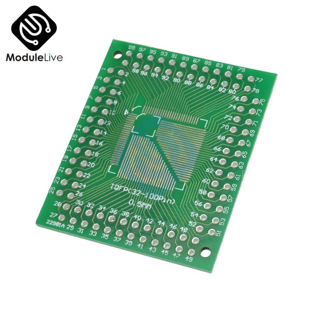 QFP/TQFP/LQFP/Fqfp 32/44/64/80/100 untuk DIP Adapter PCB papan Converter Modul DIY