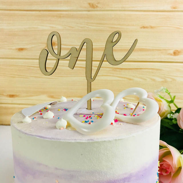 1st Birthday Cake Boy.Us 3 79 5 Off Happy Birthday Cake Topper For Baby Boy Or Girl A 1st Birthday Party Baby Shower Anniversary Dessert Decoration Lovely Gifts In Cake