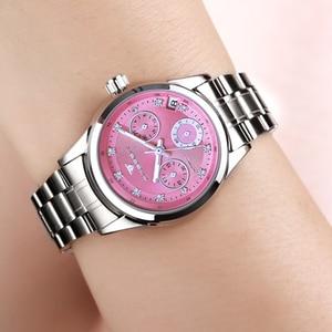Image 4 - Reloj mecánico automático para mujer, cronógrafos para mujer, FNGEEN, reloj de negocios informal con fecha, reloj de vestir para mujer 2020