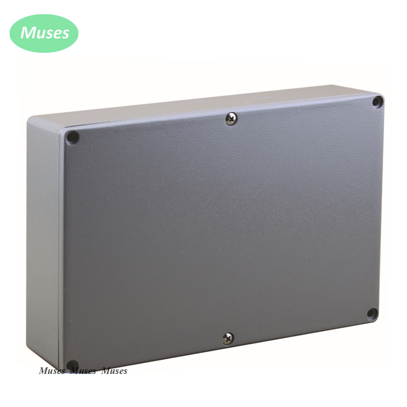222 145 55mm IP67 Extruded Electronic Aluminium Enclosure Aluminium Box with 4 screws used with connector