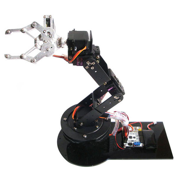 RC Toy 6DOF Robot Arm Clamp Claw & Swivel Stand Mount Kit with 6pcs MG996R Servos and Servo Hron for Arduino DIY