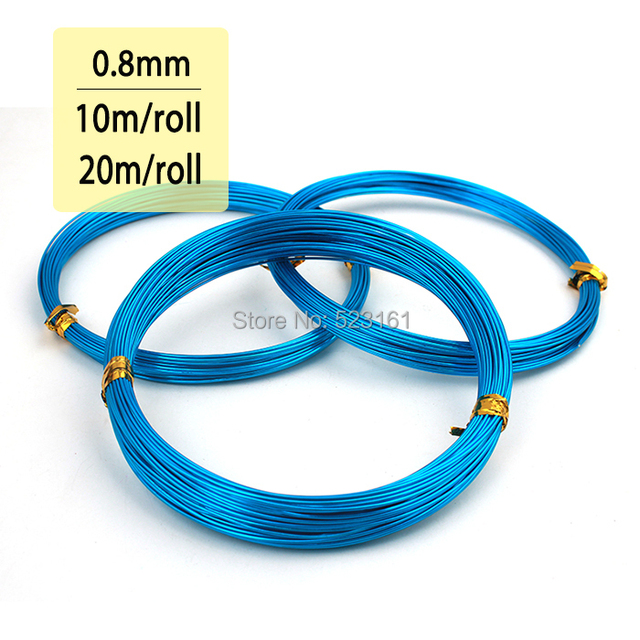 Thickness 0.8mm 20 Gauge Skyblue Plated Aluminum Jewelry Making Wire ...