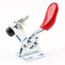 1 pièces en métal Horizontal à dégagement rapide outil à main pince à bascule pour la fixation de la pièce 60 Lbs antidérapant couvert outil à main pince à bascule