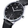 2016 Ultra Slim лучших брендов япония кварцевые часы свободного покроя бизнес натуральной кожи аналоговые спортивные часы мужская Relogio Masculino подарок
