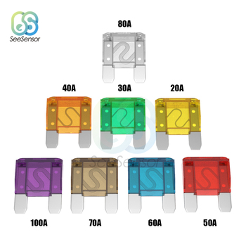 Large Size Blade Fuse Auto Fuse Zinc Alloy and Plastic Material 20A 30A 40A 50A 60A 70A 80A 100A For