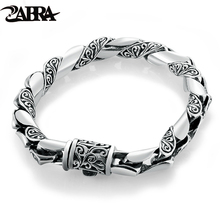 925 silver jewelry bracelet Thai silver silver thick bracelet fashionable present boyfriend domineering restoring ancient ways