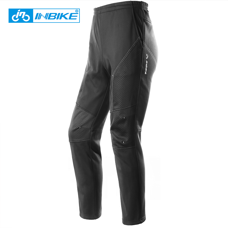 INBIKE Winter Men Waterproof Cycling Long Pants Breathable Downhill Mtb Pants Sports Thermal Trousers for Hiking Ski Bicycle santic cycling pants road mountain bicycle bike pants men winter fleece warm bib pants long mtb trousers downhill clothing 2017