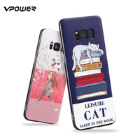 Vpower Case For Samsung Galaxy S8 Case 3D Relief Soft Silicone Protection Cases Cover For Samsung