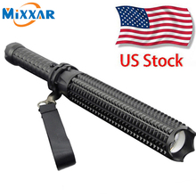 ZK20 US STOCK 9000LM CREE XM-L2 LED Spiked Mace Baseball Bat Flashlights Self-defense 5 Mode Patrol Rechargeable Torch Lamp