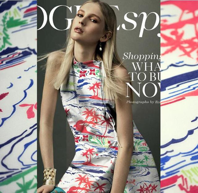 b24e25e5a295f2 2017 nieuwe super zachte katoen zijde mode jurk zijden stof palm strand doek