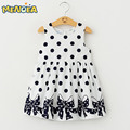Kid baby clothing Dress 2017 New Casual Summer Style Girls Dress Sleeveless Dot Printing Princess Dress Kids Clothes Party Dress