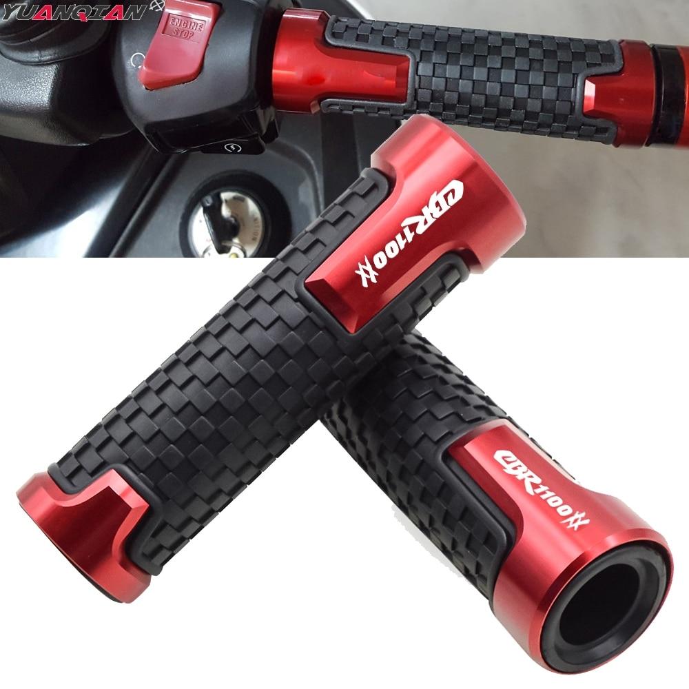 Hot Sale Aluminum+Plastic Motorcycle Handlebar Grips Handle Bar Rubber For Honda CBR1100XX CBR-1100XX CBR 1100XX BLACKBIRD