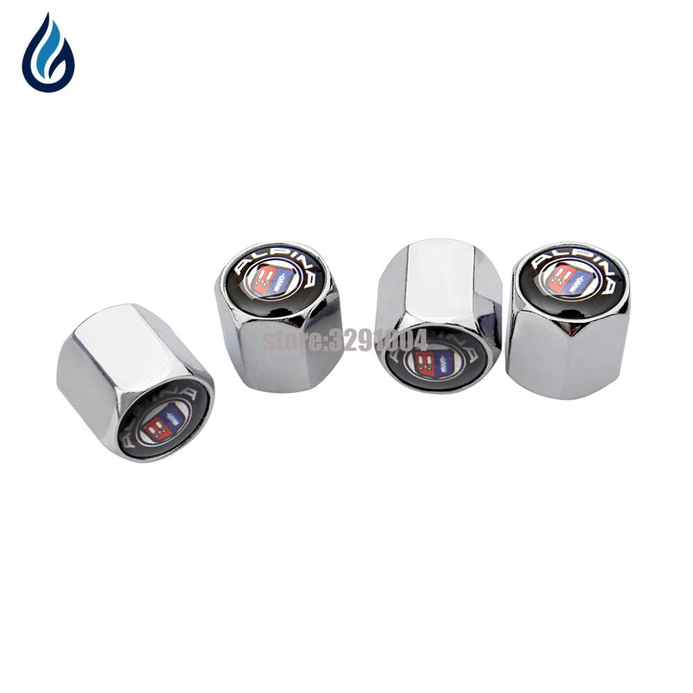 4Pcs Silver Antitheft Dust Wheel Wheel Tite Valve Air Cap Cobra Logo Emblem