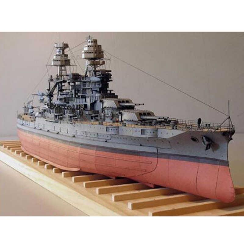 Modle z papieru do samodzielnego wykonania 1:250 USS Arizona pancernik japońskiej cesarskiej marynarki wojennej montażu PaperCraft 3D Puzzle zestaw modeli do składania zabawki dla dzieci