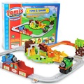 Envío gratis nuevo coche de juguete vía del tren eléctrico thomas y amigo muy regalo del muchacho learning & educational toys para niños