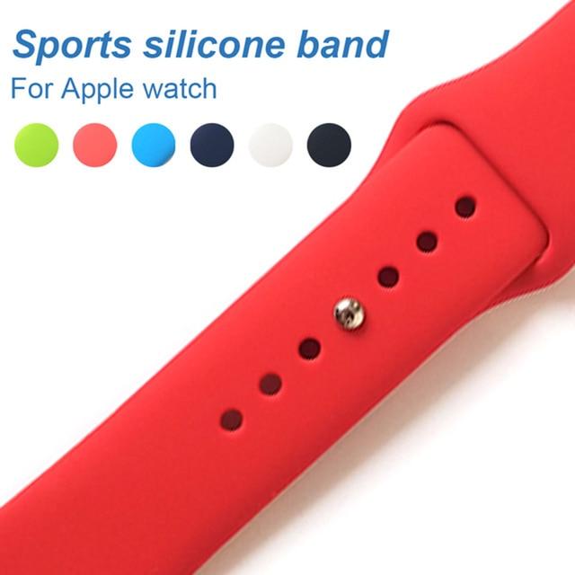 UEBN Esportes Série relógio Banda de silicone Para A Maçã 3/2 Substituir Pulseira Strap pulseira relógio Watchstrap para apple 42mm 38mm