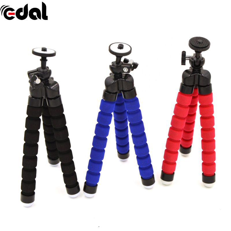 Portable Flexible Tripod Foam Mini Stand For SLR DSLR Cameras For Cell Phone Stands 3 Color