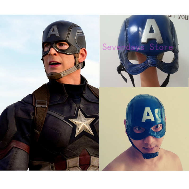 Captain America Civil War Cosplay Helmet Costume Props Mask Adult Super Hero Men