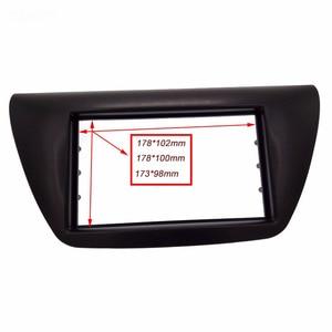 Image 4 - 2 din painel de rádio do carro fáscia apto para 2006 mitsubishi lancer ix facia dvd quadro + centro controle ac capa guarnição moldura instalar kit
