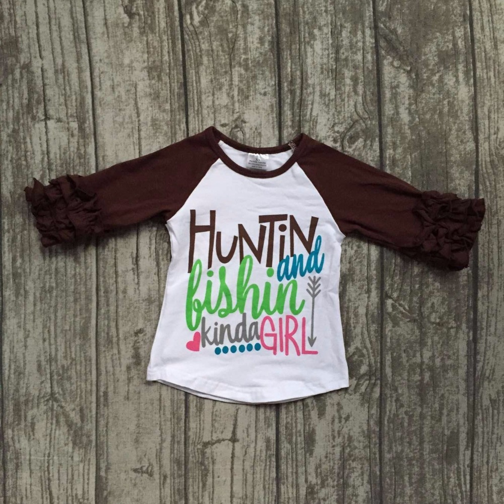 baby girls Fall boutique huntin and bishin kinda girl top t-shirts children clothes icing half sleeve cotton raglans brown arrow 42d 44b cup big realistic silicone breast prosthesis false boobs pad for mastectomy 1200g