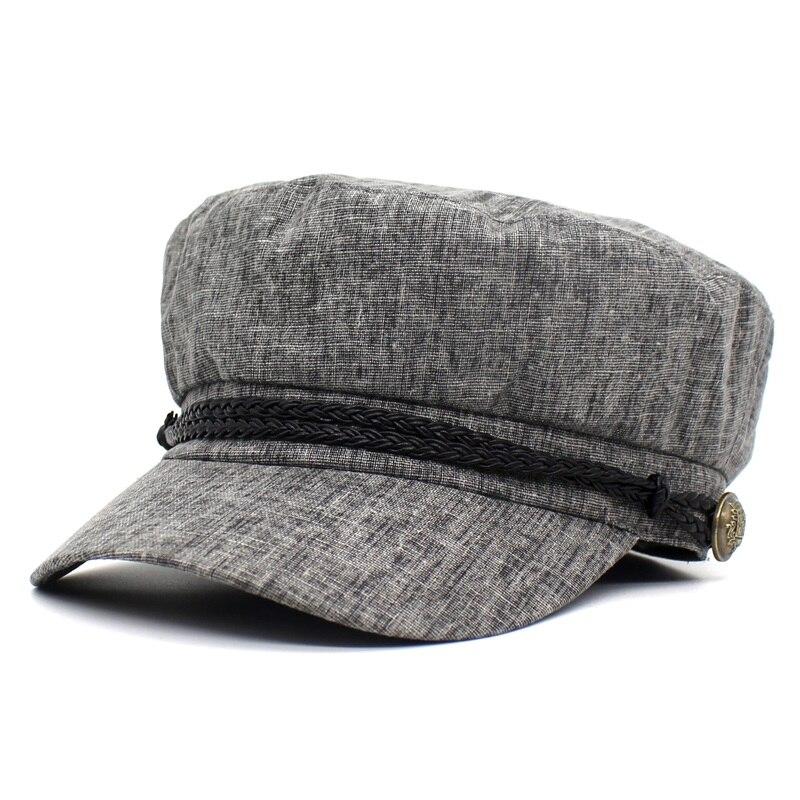 Ditpossible 2018 nueva moda flores sombreros de verano para las mujeres  alta calidad boina casquillo hembra. beige black blue grey IMG 3226 43c732f69a9
